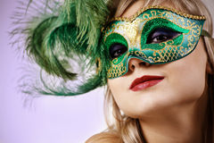 Face under mask Royalty Free Stock Photography