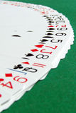 Face up playing cards fan (2) Stock Photos