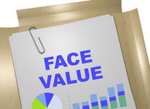 Face Value - business concept. 3D illustration of FACE VALUE title on business document Stock Images