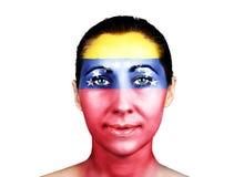 Face with the Venezuela flag Stock Photos