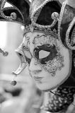 Face of Venice at carnival times stock photo
