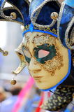 Face of Venice at carnival times Royalty Free Stock Images