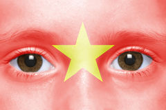 Face with vietnamese flag Royalty Free Stock Photos