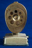 Face-On View of Antique Pencil Sharpener Stock Photos