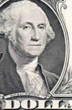 The face of Washington the dollar bill macro Stock Images