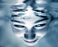 Face in the Water Royalty Free Stock Photos