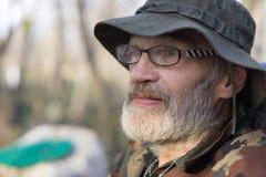 Face. White bearded homeless man face royalty free stock photos