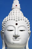 Face of White Buddha in thailand temple Royalty Free Stock Photos