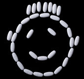 Face of white oblong tablets Royalty Free Stock Photography