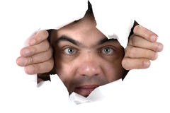 Face on white paper Royalty Free Stock Images