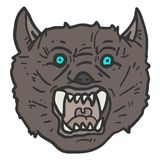 Face wolf Stock Photography