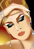 face of woman royalty free stock images