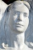 Face of a woman angel statue Stock Image