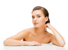 Face of woman with clean perfect skin Royalty Free Stock Photo