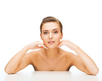 Face of woman with clean perfect skin Royalty Free Stock Photography