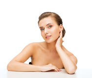 Face of woman with clean perfect skin Stock Photography