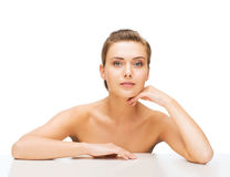 Face of woman with clean perfect skin Royalty Free Stock Image