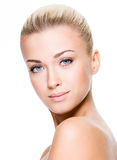 Face of a woman with clean skin Stock Images