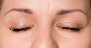 Face woman with eyes and eyelashes Stock Photography