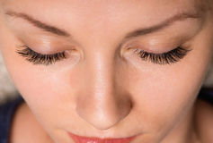 Face woman with eyes and eyelashes Royalty Free Stock Image
