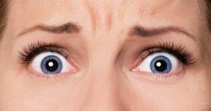 Face woman with eyes and eyelashes Stock Image