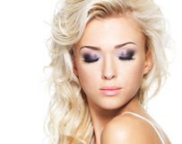Face of a woman with fashion makeup Stock Photography
