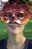 Face of woman in mask Stock Photography