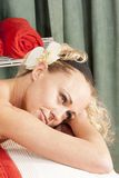 Face of a woman relaxing Stock Image