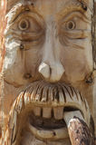 Face wood sculpture Stock Image