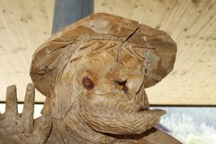 Face. Wooden statue face figure for decoration Royalty Free Stock Image