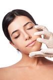 Face Wrinkles of Girl stock photography