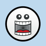 Face Yell. Cartoon face yelling with blue background Royalty Free Stock Images