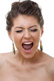 Face of a young crying woman Royalty Free Stock Photography