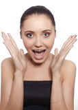 Face of a young crying woman Stock Photography
