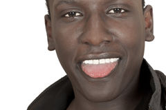 Face of a young dark-skinned guy Royalty Free Stock Photos