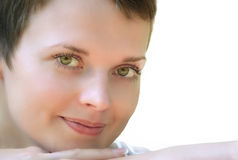 Face of a young girl Stock Photo
