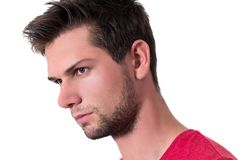 Face of a young man Stock Photos