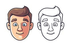 Face of a young man vector illustration