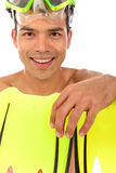 Face, young Nepalese swimmer, humorous Royalty Free Stock Photography