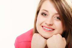Face of young woman happy girl college student Royalty Free Stock Photo