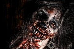 Face of zombie Royalty Free Stock Photography