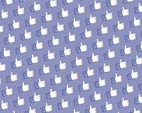 facebook喜欢徽标墙壁 免版税库存图片