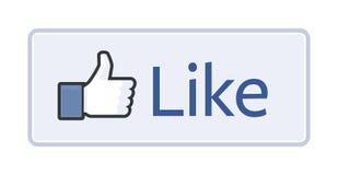 Facebook喜欢按钮2014年 图库摄影