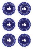 Facebook喜欢 向量例证