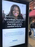 Facebook广告牌 库存照片