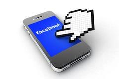 Facebook智能手机 库存照片