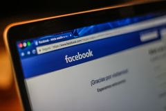 Facebook注册网页照片 免版税库存照片