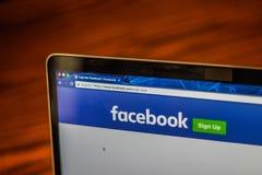 Facebook注册网页照片 库存照片