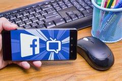 Facebook注意电视 免版税图库摄影