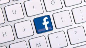 Facebook键盘 免版税库存照片
